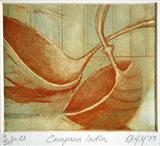 Campana ladles by Noonie Minogue, Artist Print, Etching